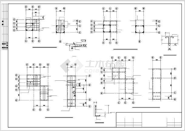 某小高层纯剪住宅全套结构设计图-图1