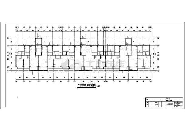 长沙某6层框剪住宅结构设计图-图1