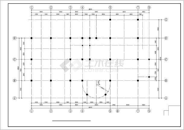 某三层休闲中心框架结构设计图-图2