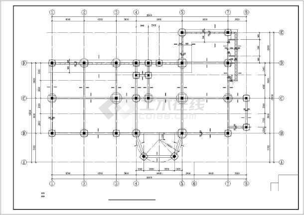 某三层休闲中心框架结构设计图-图3