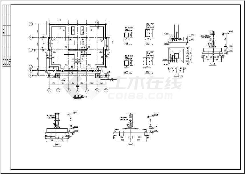 某三层砖混别墅结构图纸(含设计说明)-图1