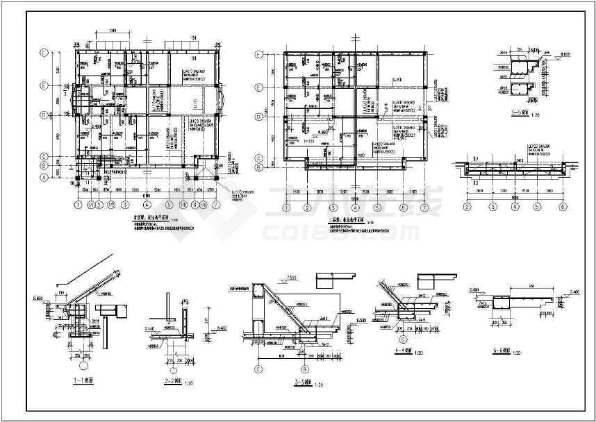 某三层砖混别墅结构图纸(含设计说明)-图2