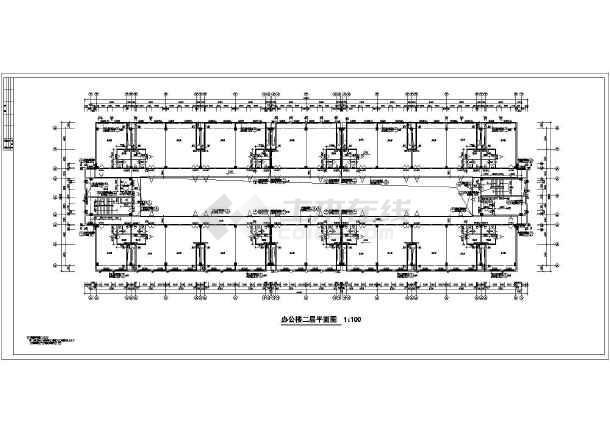 某市四层办公楼平立剖面详细施工图纸-图2