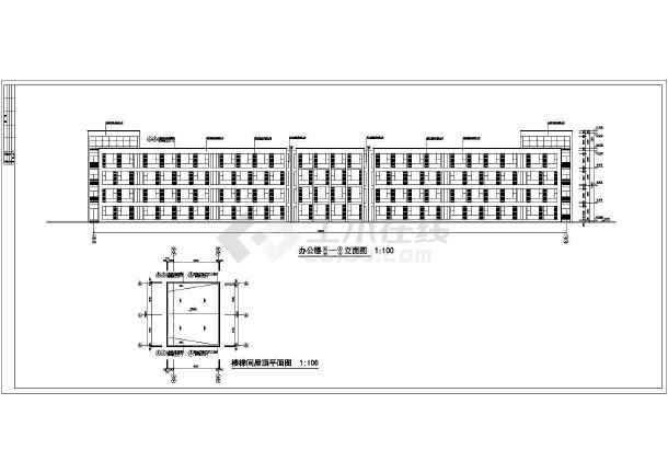 某市四层办公楼平立剖面详细施工图纸-图3