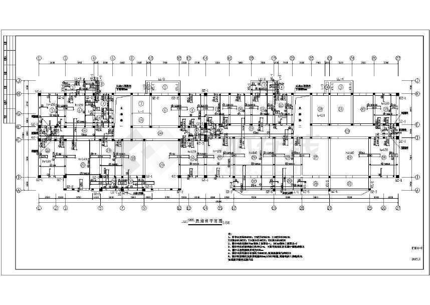 某工业生活区住宅楼全套图纸-图2
