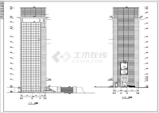 某研发办公楼建筑设计施工CAD图-图2