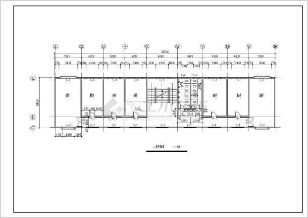 某多层公司办公楼详细建筑图-图2