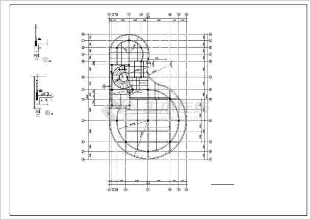 某2层框架农贸市场结构设计图-图1