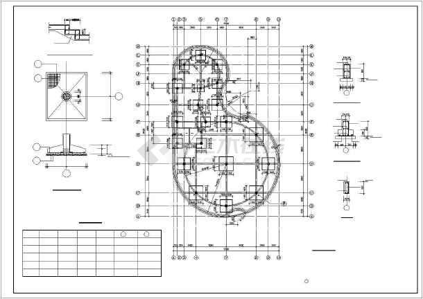 某2层框架农贸市场结构设计图-图2