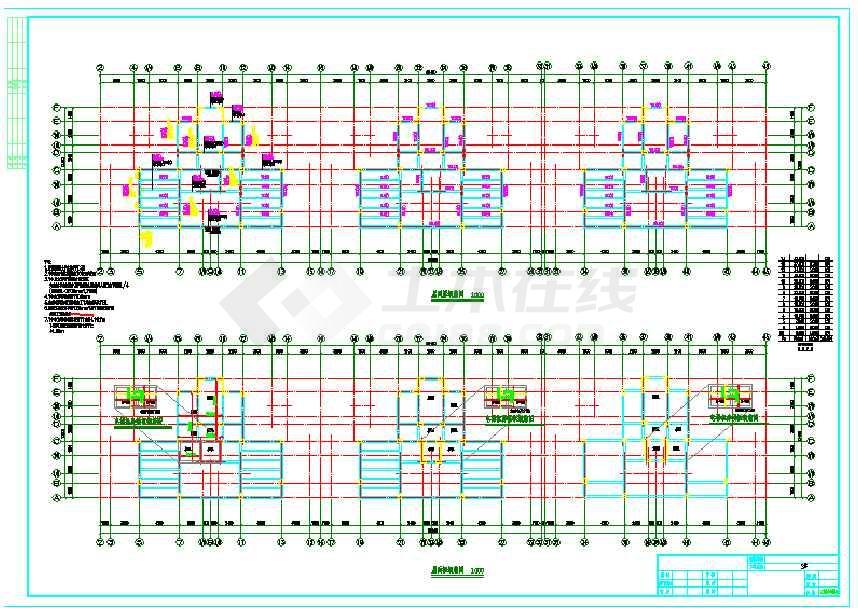 某地区12层框架剪力墙结构住宅楼cad施工图 (含设计说明)-图3