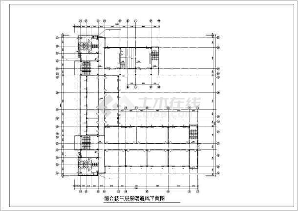 某学院综合楼采暖通风图-图1