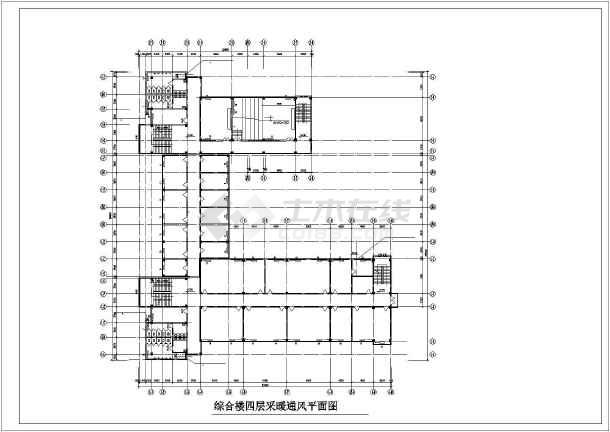 某学院综合楼采暖通风图-图2