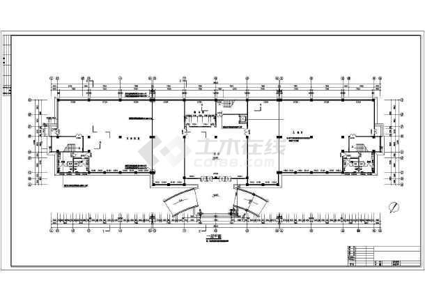 某地详细办公楼建筑设计cad施工图-图2