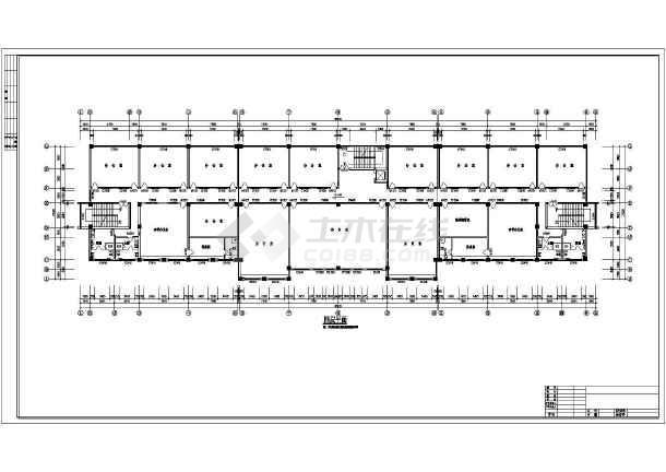 某地详细办公楼建筑设计cad施工图-图3