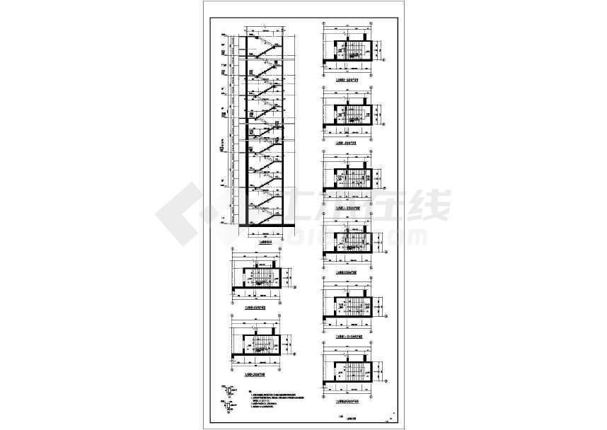 50层B级高度复杂结构超限超高层建筑cad图-图1