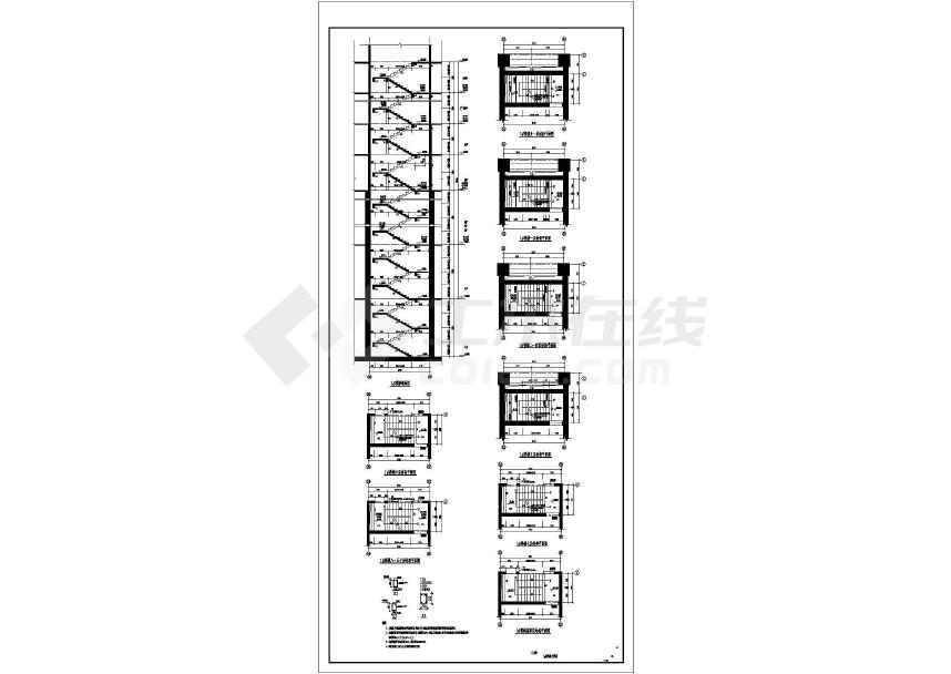 50层B级高度复杂结构超限超高层建筑cad图-图2