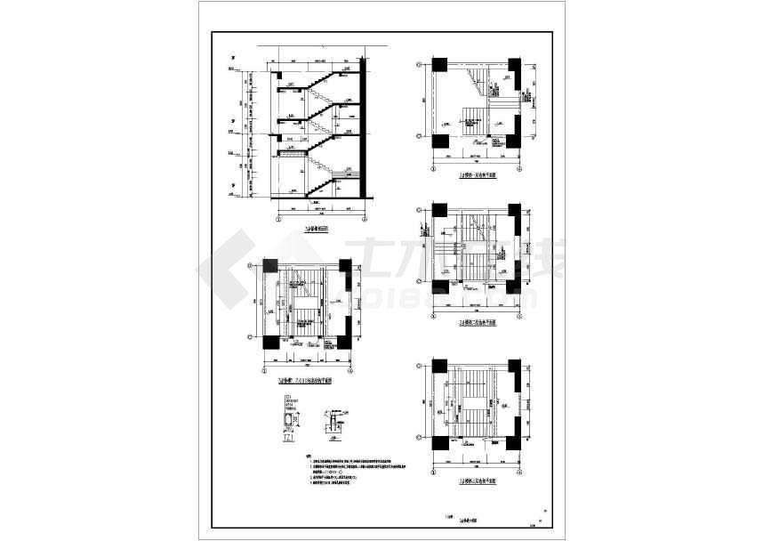 50层B级高度复杂结构超限超高层建筑cad图-图3