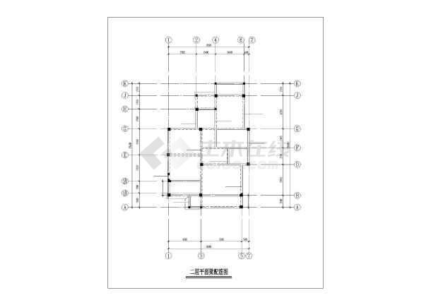 武汉某3层坡屋顶框架别墅全套建筑结构设计图-图3