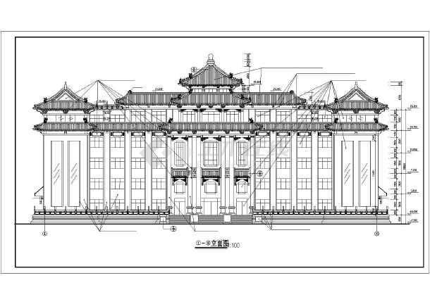 某市办公楼建筑设计CAD施工图 (仿古)-图1