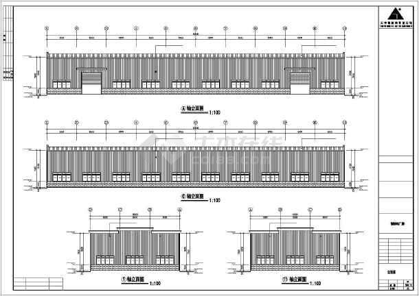 某地钢式厂房建筑结构cad图-图1