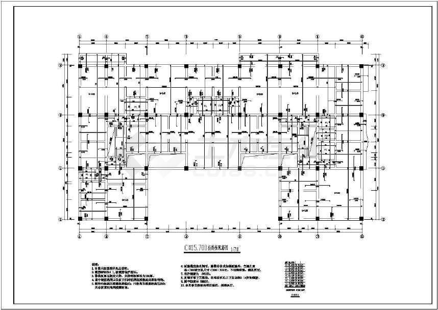 某地多层住宅结构全套施工图-图2