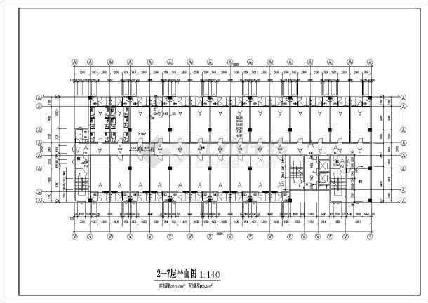重庆中学教学楼建筑施工图(共9张)-图2
