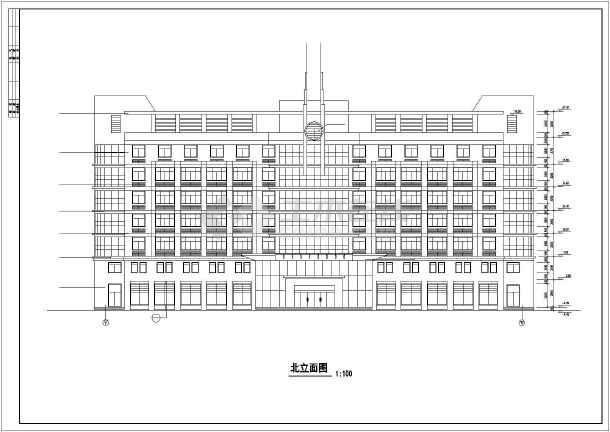 某消防队办公楼全套建筑设计施工CAD图-图1