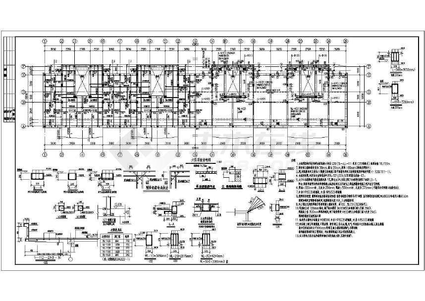 某6层砌体结构住宅施工图(共4张)-图1