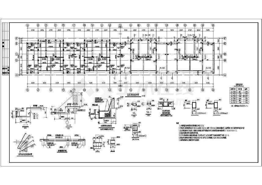 某6层砌体结构住宅施工图(共4张)-图2