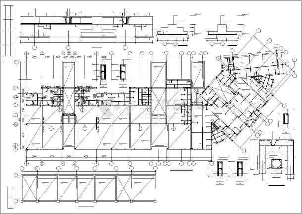 某市住宅楼底框全套结构cad设计施工图纸-图2