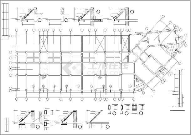 某市住宅楼底框全套结构cad设计施工图纸-图3