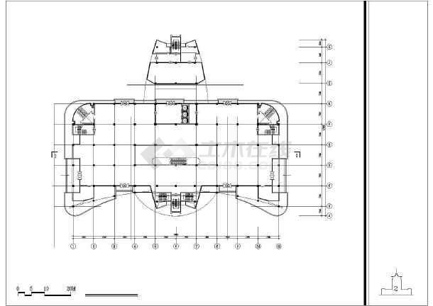 某培训中心建筑设计方案CAD图-图1