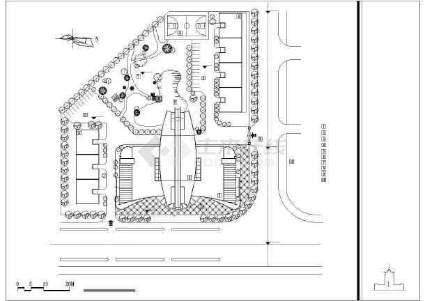 某培训中心建筑设计方案CAD图-图2