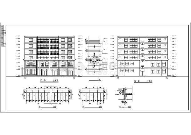某派出所综合楼全套建筑设计施工CAD图-图1