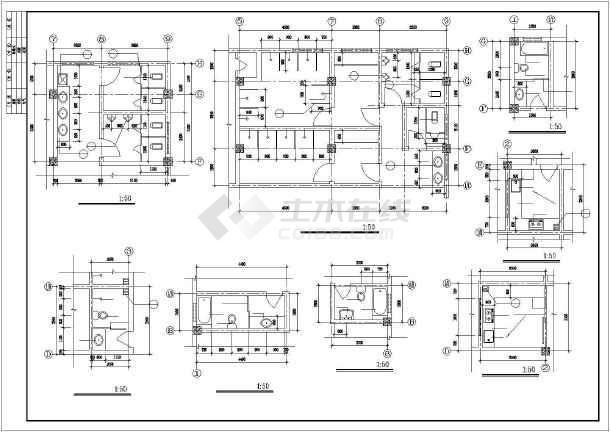 某派出所综合楼全套建筑设计施工CAD图-图3
