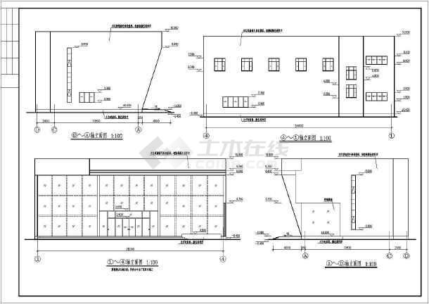某2层钢结构售楼处建筑结构设计图-图3