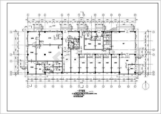 某工厂综合楼建筑施工图-图2