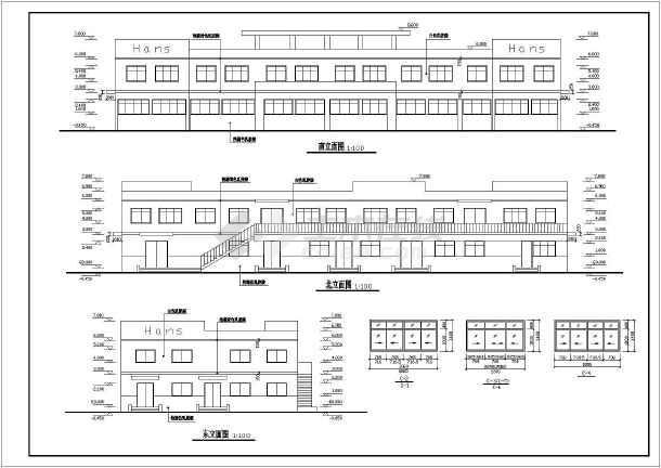 某工厂综合楼建筑施工图-图3