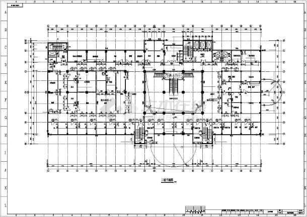 青岛医院综合楼全套cad施工图-图1