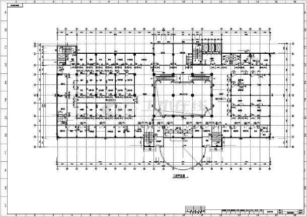 青岛医院综合楼全套cad施工图-图3