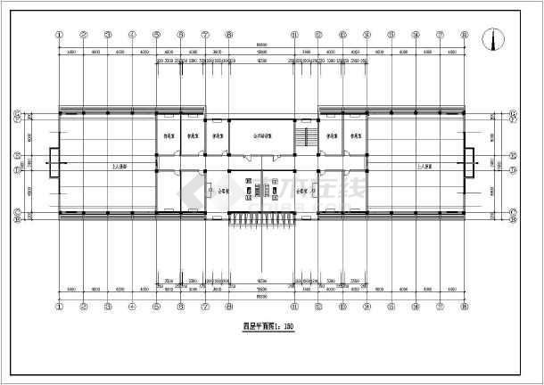 某基地办公楼结构设计图-图1