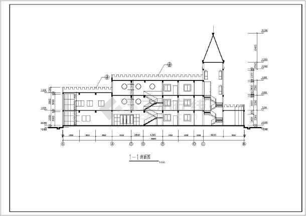 某地幼儿园平立面方案建筑图(共6张)-图1