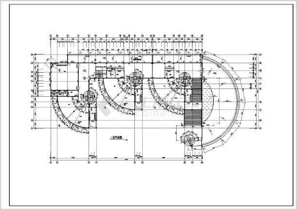 某地幼儿园平立面方案建筑图(共6张)-图2