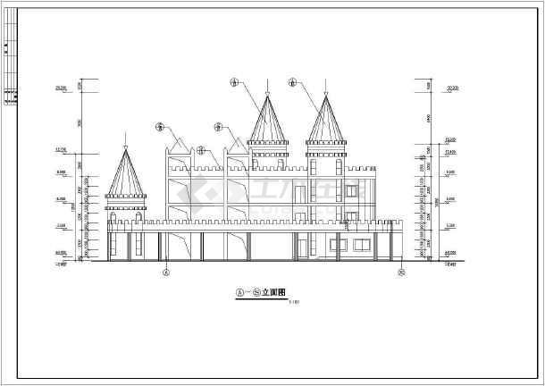 某地幼儿园平立面方案建筑图(共6张)-图3