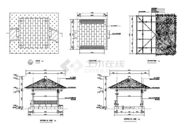 特色木质凉亭设计详图-图1