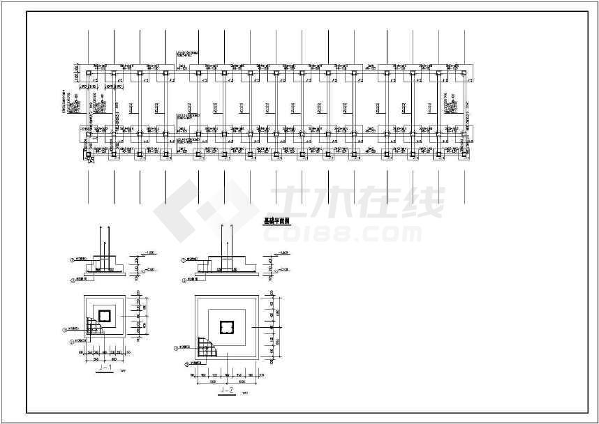 某两层框架办公楼结构设计图-图2