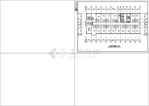 某地区一综合楼方案施工图(共14张图)-图1