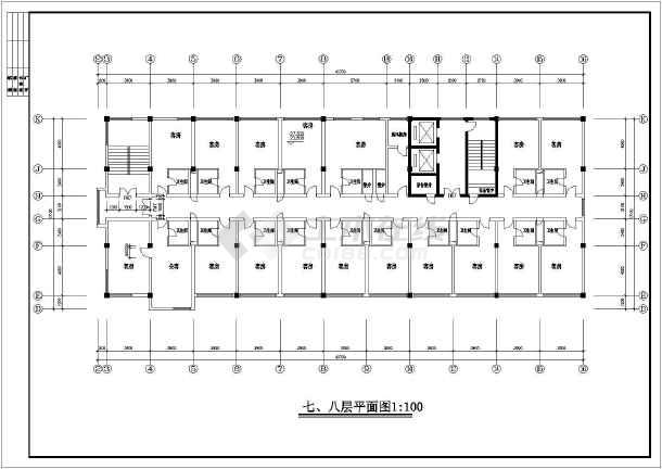 某地区一综合楼方案施工图(共14张图)-图3