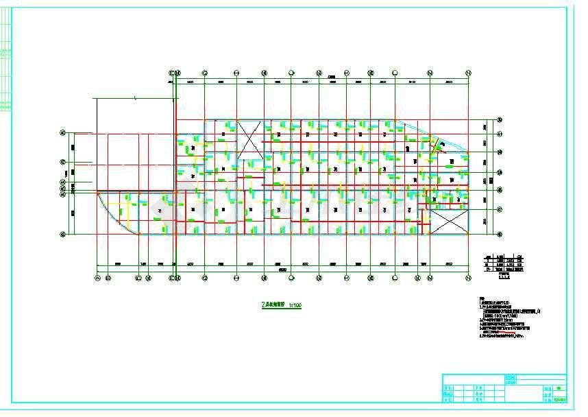 地上二层框架结构商业区cad图-图2