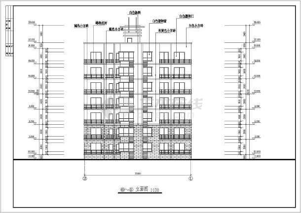某地七层住宅楼建筑设计图(共7张)-图1